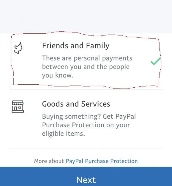 How secure is the PayPal friend and family option?